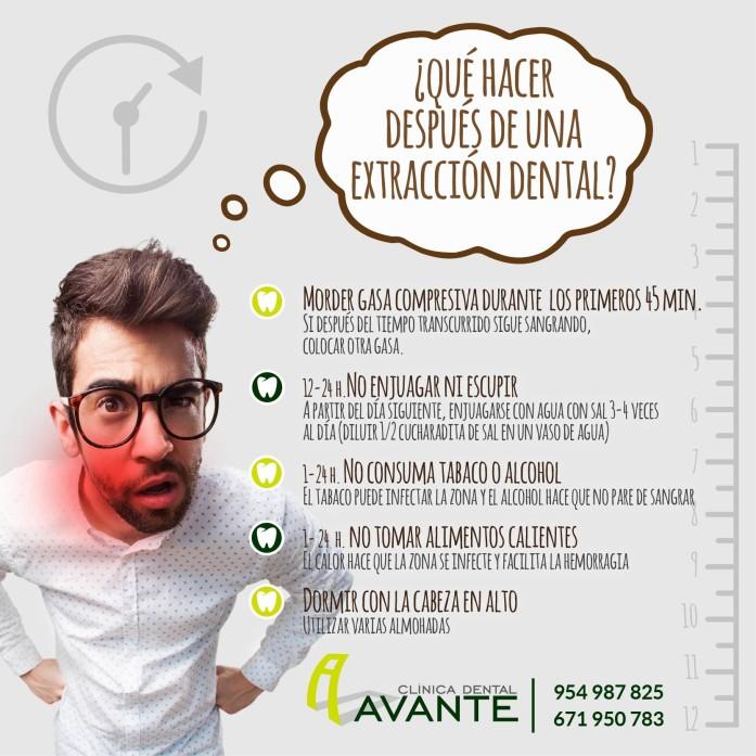 Recomendaciones tras la extracción dentaria